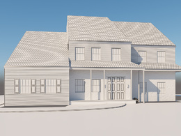Make your house 3d model and do render