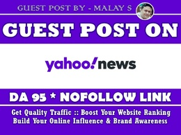 Guest post/ Press Release on Yahoo News, Yahoo.com Brand Mention