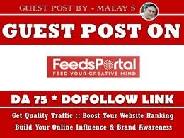 Guest post on Feedsportal. Feedsportal.com DA75 Dofollow Link