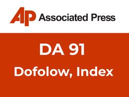 Guest Post/Press Release on APNews, Associated Press, Dofollow