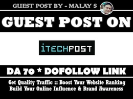 Guest post on itechpost. itechpost.com DA70