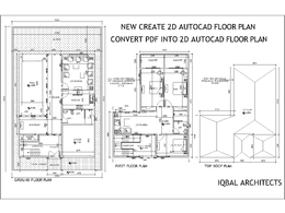 Create new or convert old PDF into 2D CAD drawings