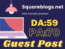 Write & Publish Guest Post On Squareblogs Permanent Backlinks