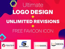 Ultimate logo design + Unlimited revisions + Free favicon Icon