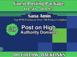 Guest posts on 20 High Authority Websites DA 50 to 95 - Dofollow