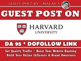 Guest Post on Harvard University. Harvard EDU Harvard.edu DA95