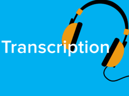 Transcribe Audio or Video Files to Typed Word