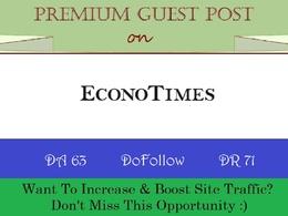 Write and Publish A Guest Post ON EconoTimes.com DA-63