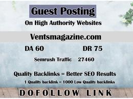 Guest post on Ventsmagazine - Ventsmagazine.com - DR 75