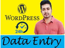 Do Data entry online & offline 1 hour