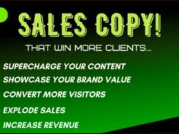 Provide an EFFECTIVE Sales Letter & Copywriting Service