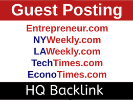 Do PR or Guest Post on Vogue, LaWeekly, Tech Times, WSJ & more