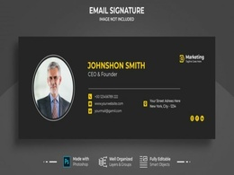 Design Professional Email Signature(HTML) with Unlimited Rev