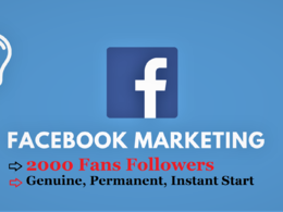 Promote Your Facebook Page & Grow 2000 Real Fan Followers