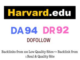 Guest Post on Harvard - Harvard.edu - DA 94 DR 92