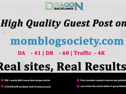 High Quality Guest Post on momblogsociety.com / momblogsociety