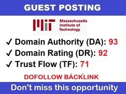 Post On MIT. edu - DA 95, DR 92 - Dofollow backlink