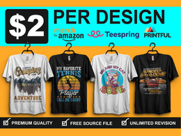 I will create an eye catching custom t shirt design