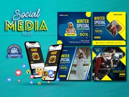 Design 10 social media posts for Instagram, Facebook