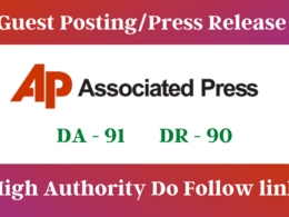 Write and publish featured guest post/Press Release on APnews