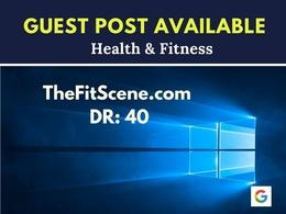 Health Guest Post on TheFitScene.com DA:54 | Dofollow