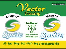 Vectorize your logo, convert an image to vector professionally