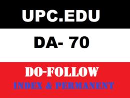 Premium Guest Post on upc- upc.edu DA 70
