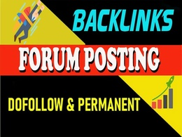 Provide Manually 50+ HQ DofoIIow Forum Posting Backlinks