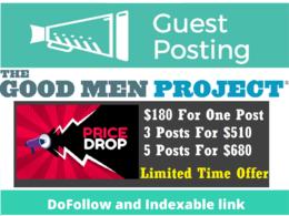 Guest Posts on Goodmenproject, Goodmenproject.com - DA 83