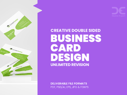Design double sided Business card with Unlimited Revision