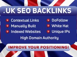 Build high quality SEO co uk backlinks manual link building