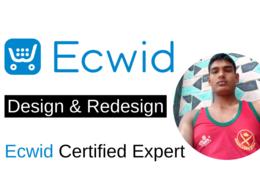 Design ecwid or redesign a ecwid website design or ecwid online