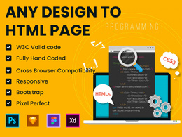 Any design to responsive HTML web design