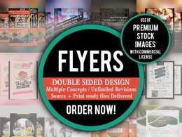 Design an creative double-sided flyer/poster/leaflet in 24 hours