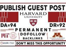Publish your article On Harvard.edu - DA94, DR92 Dofollow Link