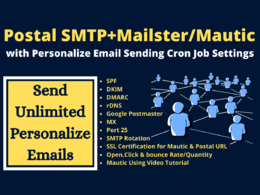 Do smtp server with mautic or mailster to send unlimited email