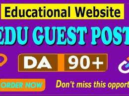Write and Publish Edu Guest Posting on High Authority. edu Site