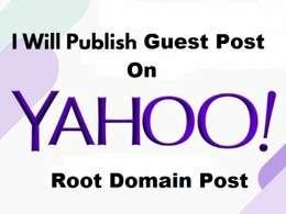 Publish Guest Post on Yahoo - Yahoo.com DA 96