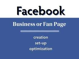 Create set optimize Facebook Business Page with cover photo