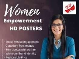 Custom Design 30 Women Empowerment HD Posters