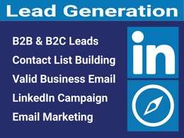 Do B2b Lead Generation, Prospect List Building, Email Research