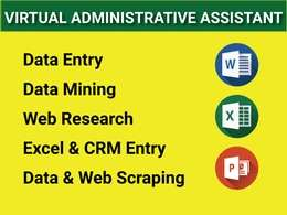 Do Data Entry/ Data Mining/ Scraping/ Data Conversion/ CRM entry