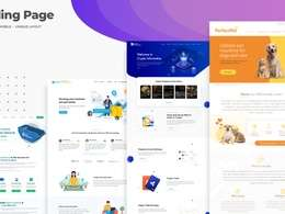 Design professional Website Home / landing page + source files