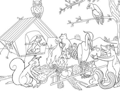Draw a coloring page