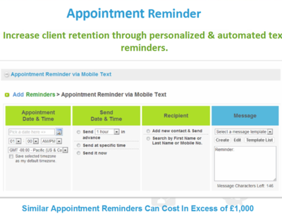 Provide an SMS appointment reminder system