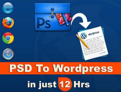 Develop PSD to wordpress website