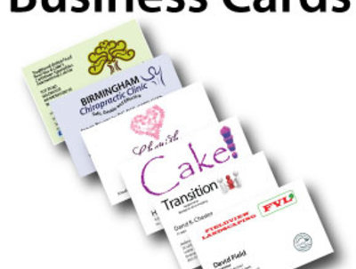 Design all your business stationery inc cards, letterheads and comps