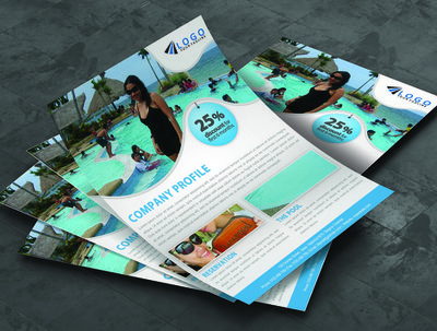 Design a double sided flyer, poster or leaflet
