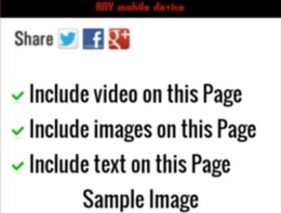 Create a mobile optimised landing page