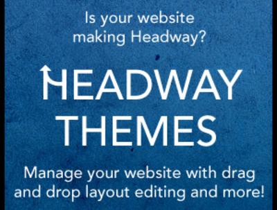 Create your wordpress site using headway theme